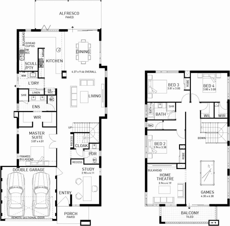Two Story 3 Bedroom 2 Story House Plans