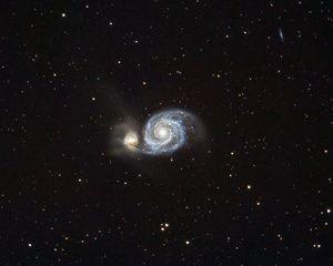 The Whirlpool Galaxy in Canes Venatici