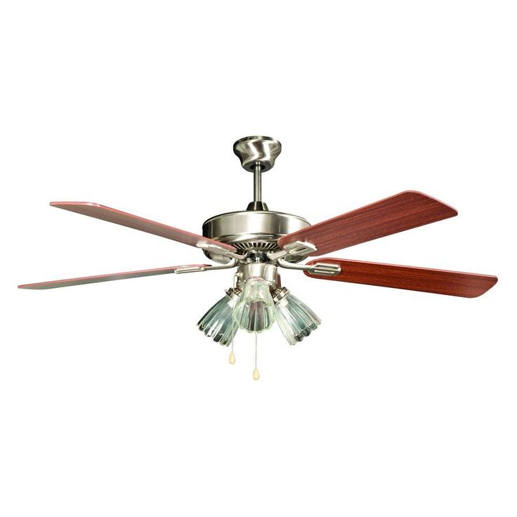 Concord Fans San Marcos Series 52 in. Indoor Stainless Steel Ceiling Fan