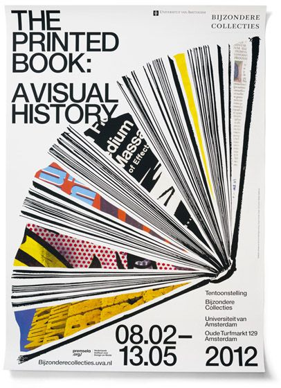 The Printed Book: A Visual History | Bijzondere Collectie cover #editorial #layout
