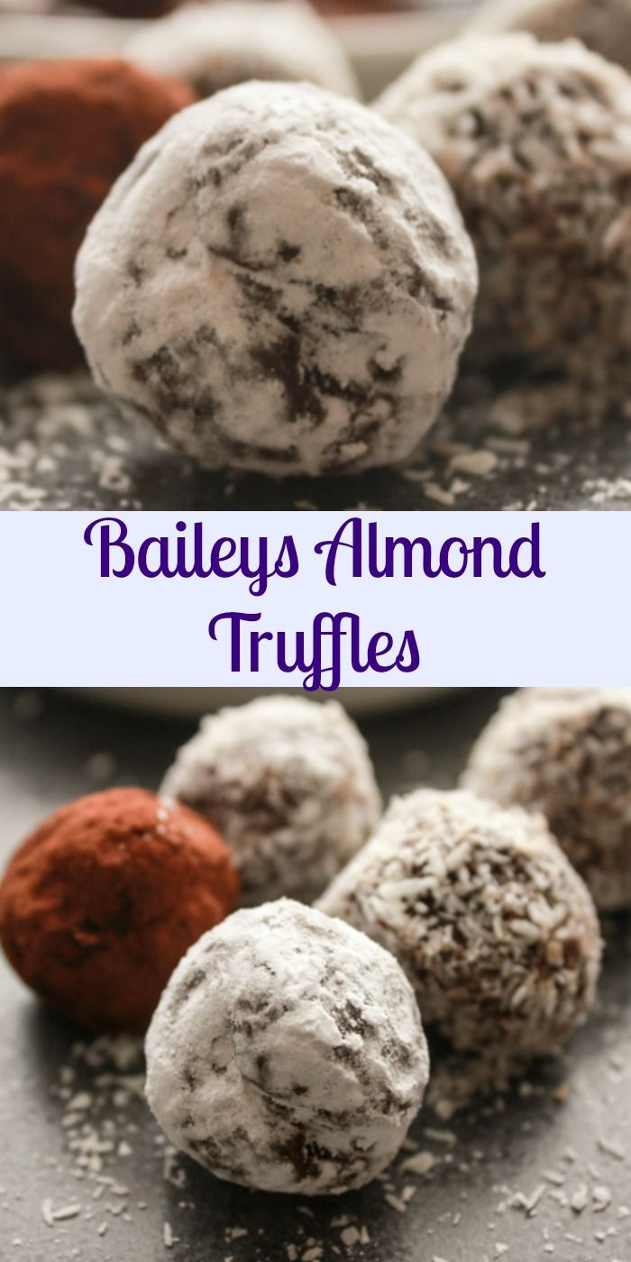 Baileys Almond Truffles, the most delicious and creamy truffle recipe you will ever taste and only 4 ingredients. anitalianinmykitchen.com