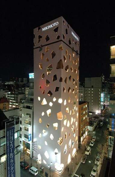 The Cut-Out Facade of the New Mikimoto Building in Tokyo #architecture trendhunter.com