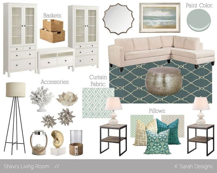 Living Room Mood Board From Ksarahdesignstypepad Love The Fabrics In This