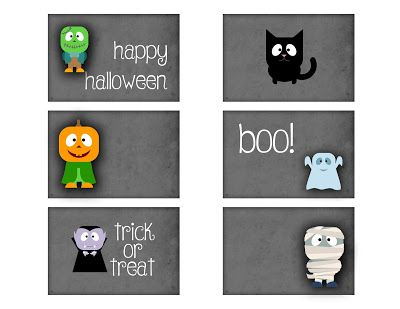 Nuskina: Tarjetas halloween imprimibles gratis para journal...