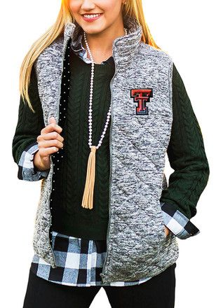 Gameday Couture Texas Tech Womens Grey City Chic Vest