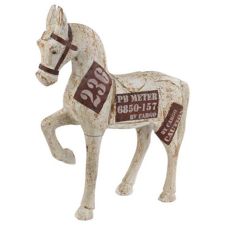 Beautiful wooden decorative #horse in #antique finish 236. www.inart.com