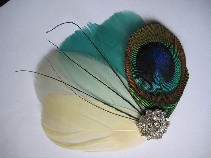 Peacock wedding hair piece .. Sasha Sizer .. Check this!  Would look SUPER cute in your hair!