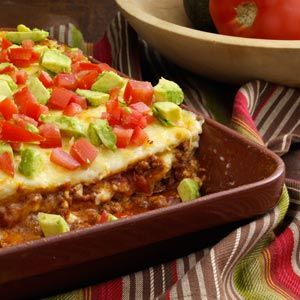 """This """"Texas Style Lasagna"""" was so super tasty! Cody bought me a Freezer Meals cookbook from Taste of Home so I can get ahead of dinner (working 40+ hours a week makes cooking/planning so much tougher)! This meal was DELISH! It was fairly simple, but the tastes and textures were just right. This is the closest I've come to wanting to eat """"mexican"""" at home instead of at our local mexican restaurants :) This will definitely be made again!"""