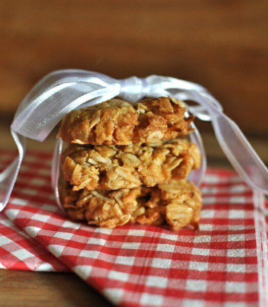 For readers outside Australia and New Zealand, ANZAC biscuits were made with love (and heaps of sugar!) and mailed to our troops in World War I.