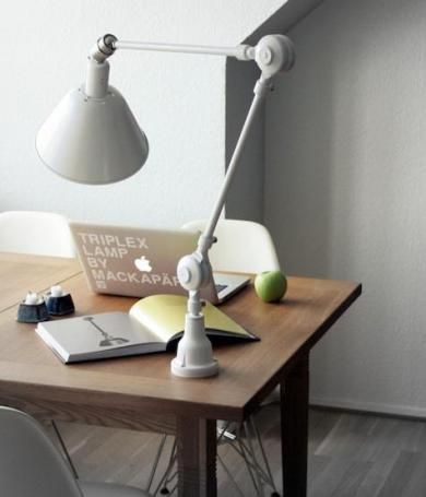Triplex Lamp: Remodelista. Small base is perfect for a bedside table.