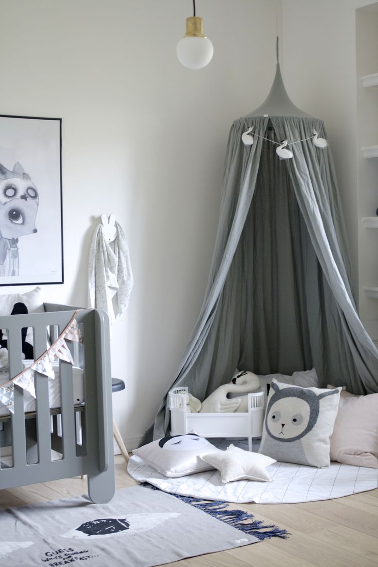 A very grey nursery - one of my favourite colours for a kids room
