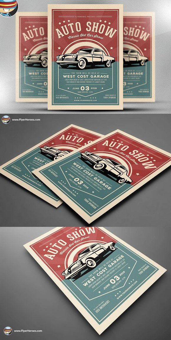 Old Classic Car Show Flyer Template. Flyer Templates