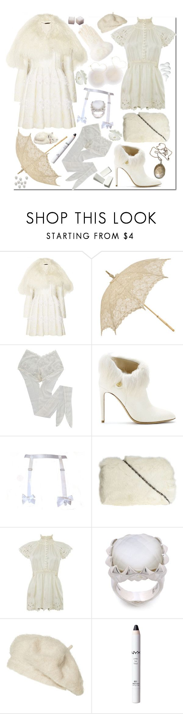 """""""usagi"""" by ju-on ❤ liked on Polyvore featuring Alexander McQueen, HYD, Ralph Lauren, Dorothy Perkins, Vintage Collection, Stephen Webster, Zara, NYX, white and fur"""