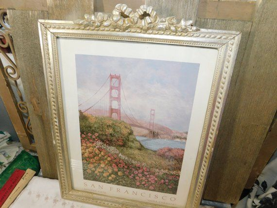 San Francisco Golden Gate Bridge Framed Picture Anna Christa 1989 ...