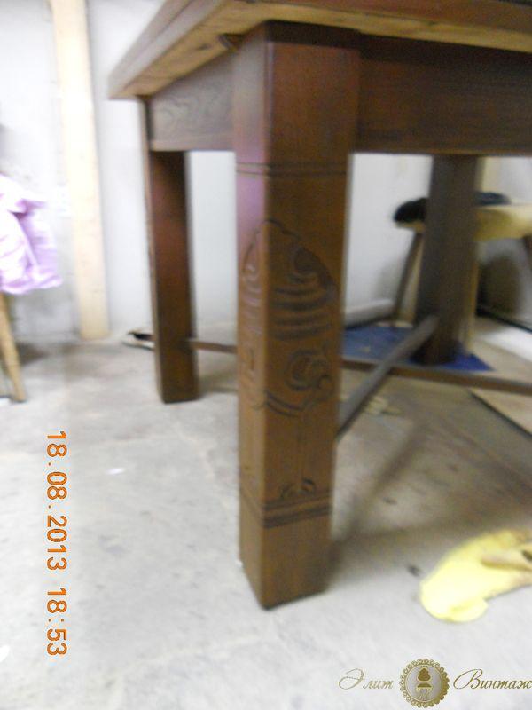 """Перекраска и покраска мебели """"после"""". Ножка стула."""