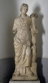 """""""La Fortuna"""", Anónimo, Finales del siglo II - principio del siglo III, Mármol"""