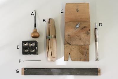 Mitä ovat filssi, stikkeli ja krysanttirissa? Entä filnagel ja skaavari? CaiSannin blogissa voit käydä arvuuttelemassa kuinka monen kultasepän työkalun nimen osaat yhdistää sen kuvaan.