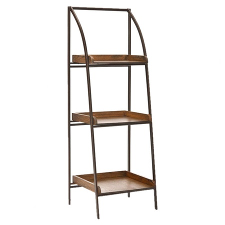 I pinned this Taylor Etagere from the Safavieh event at Joss and Main! - bed side table for the MR. might paint the shelves...
