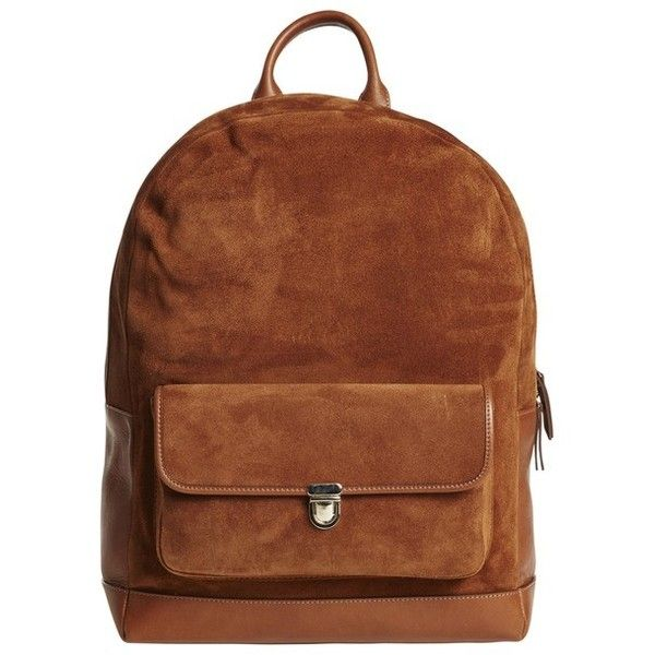 Timo Weiland Felix Back Pack ($195) ❤ liked on Polyvore featuring bags, backpacks, camel, camel backpack, camel bag, brown bag, timo weiland and brown backpack