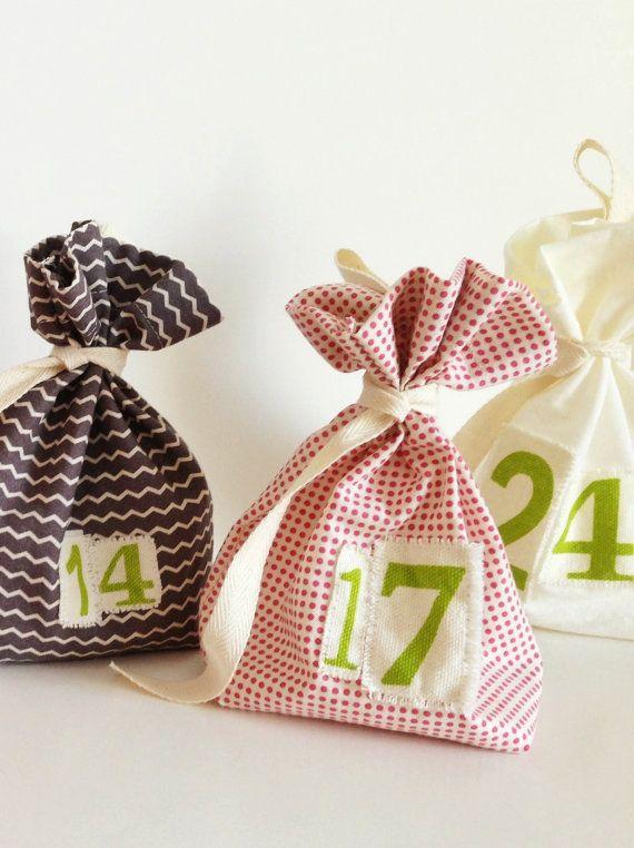 Scandi Bags Advent Calendar Scandinavian by GoodWishesQuilts