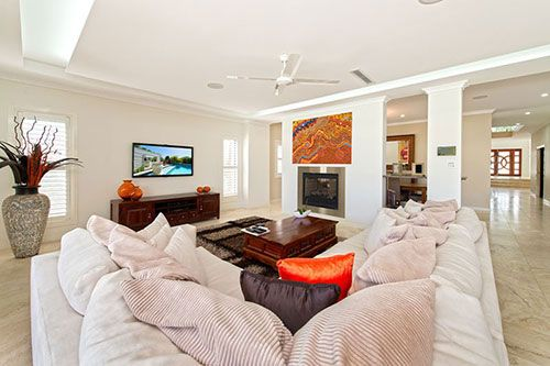 Great colour palette and love the double sided fireplace http://www.realscope.com.au