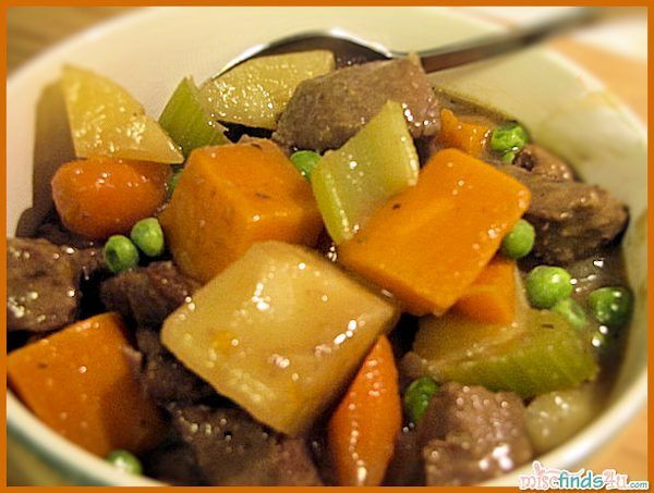 Recipe: Savory Winter Vegetable Beef Stew with Vegetarian Options - nothing fancy but great heart and delicious stew. Root vegetables and meat in gravy.