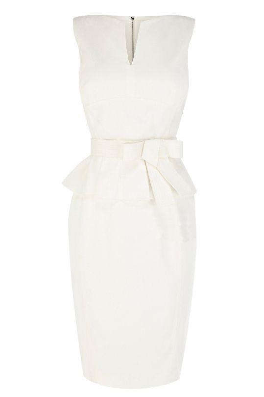 Slim flounced dress