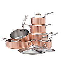 les 25 meilleures id es de la cat gorie copper cookware set sur pinterest batterie de cuisine. Black Bedroom Furniture Sets. Home Design Ideas