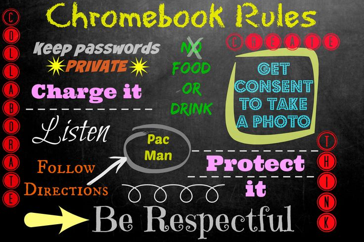 Chromebook rules for managing Chromebooks in the classroom
