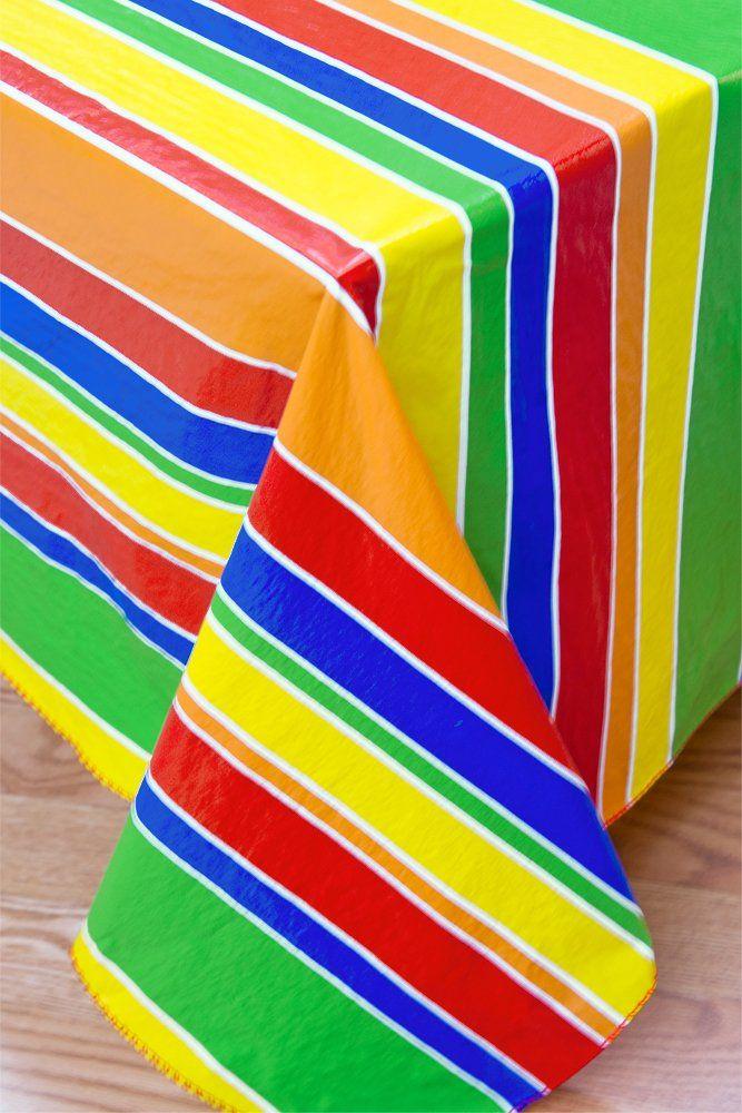Праздничные полосатая фланель опираясь виниловая скатерть, 60x104 продолговатой формы (прямоугольник)