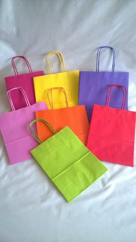 Twisted handle coloured paper bags for parties and occasions gift strong bright  in Home, Furniture & DIY, Celebrations & Occasions, Party Supplies | eBay!