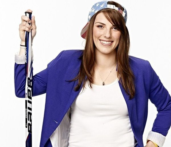 Ice Hockey player Hilary Knight poses for a portrait