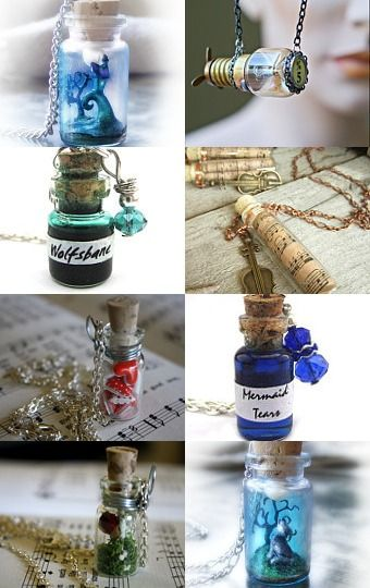 Bottle Necklaces! We made these at Girl Scout Camp in Jan 2014! I re-used old medicine vials!