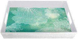 Melamine Tray With Sea Fan Coral Design - North Breeze