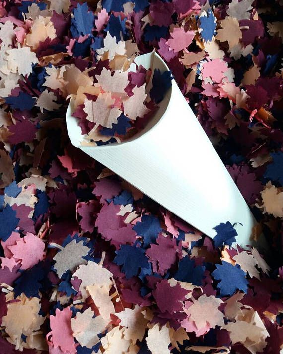 Handmade Autumn Mix colors tissue paper Maple leaves confetti ** ideal for throwing confetti, decorating, birthday, wedding, party tables, sprinkling in invitations or favour boxes. Volume when fully fluffed up given as a guide only Small pack - 5 handfuls - 1/2L Medium pack - 10