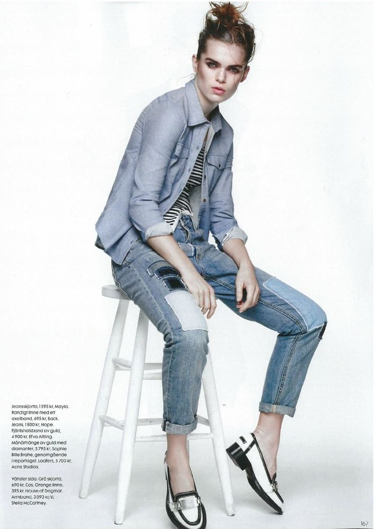 Hope SS15 - Stay Patch Jeans in @ELLE Sverige, issue 5/2015. http://hope-sthlm.com/stay-patch-jeans-blue-denim