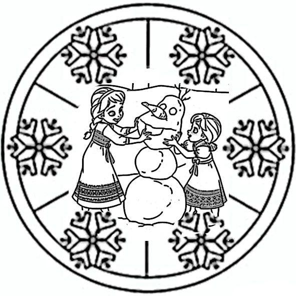 eiskönigin  ausmalbilder ausmalbilder mandala ausmalen