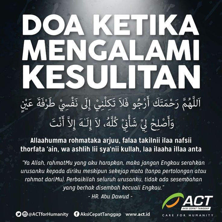 Doa ketika mengalami kesulitan