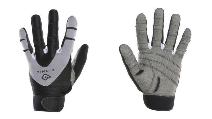 Bionic Men's PerformanceGrip Full Finger Fitness Gloves, Black (PAIR) #Bionic