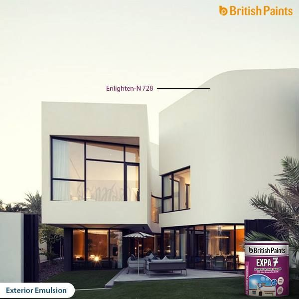 When it comes to choosing colour, there are no rights or wrongs, just keep in mind the aspect of the property and surrounding area.   Go wild, and choose the best colours for the exteriors from the range of exterior emulsions of British Paints!