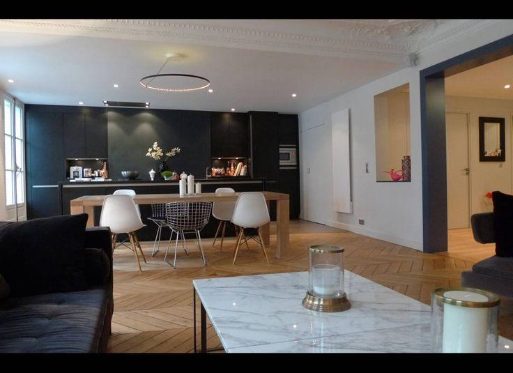 Les Meilleures Idées De La Catégorie Appartement Hausmanien Sur - Deco haussmannien moderne pour idees de deco de cuisine