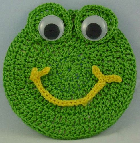 FREE PATTERN ~ Critter Frog Coaster