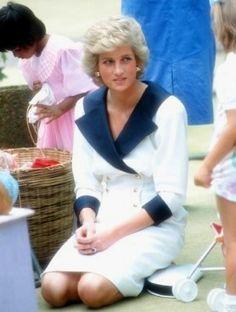 February 2 1988 Princess Diana at the Roy McCaughey Barnardo Centre in Auburn Sydney