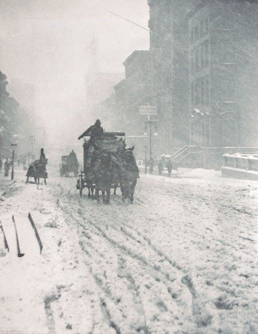 NEW YORK IN THE SNOW, 1892-1920