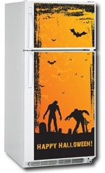 Zombie Graveyard Top & Bottom Fridge Cover. Cheap Kitchen Appliance Improvements.