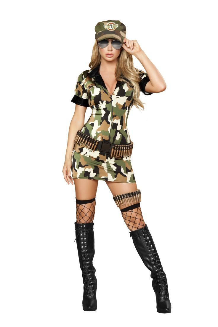 Three piece Militia Babe Army Costume from SexyWearAvenue