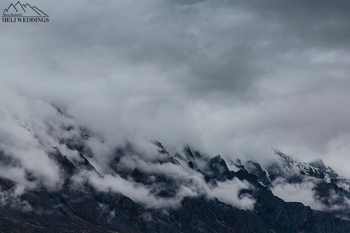 Low clouds over The Remarkables Queenstown New Zealand