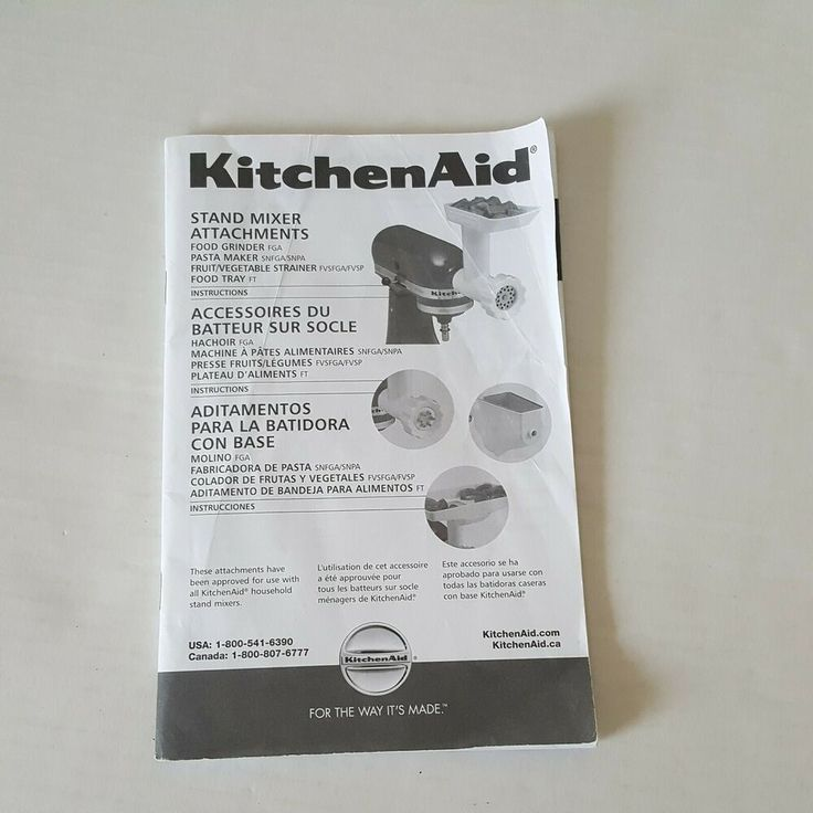 Kitchenaid stand mixer instructions and recipes grinder