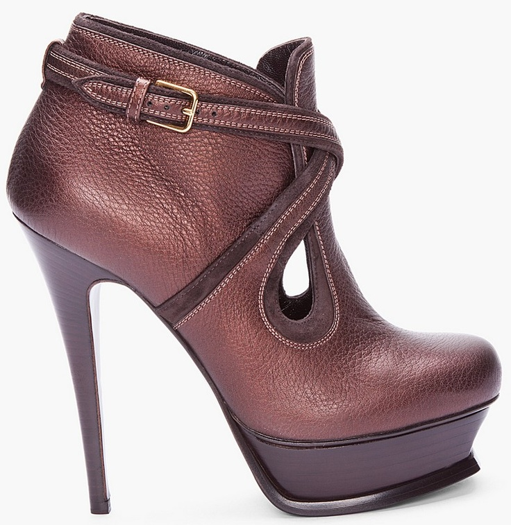 Hottest Yves Saint Laurent Tribute Too Red Boots Low Price