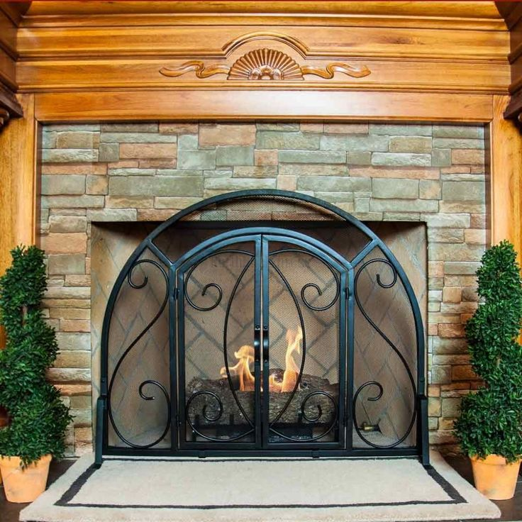Fireplace Design arched fireplace screen : Best 25+ Fireplace screens with doors ideas on Pinterest ...